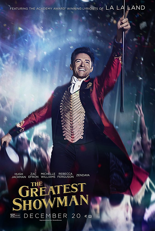 The Greatest Showman VUDU HD or iTunes HD via MA