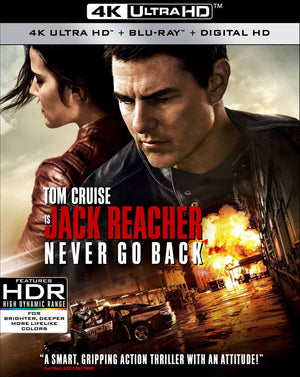 Jack Reacher Never Go Back UV 4K