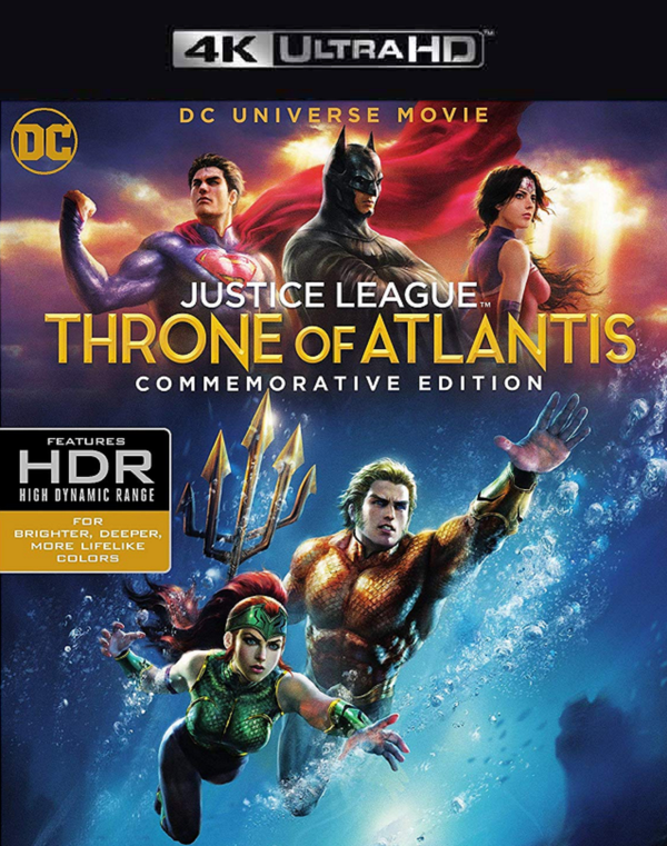 Justice League: Throne of Atlantis MA VUDU 4K iTunes 4K FandangoNow 4K