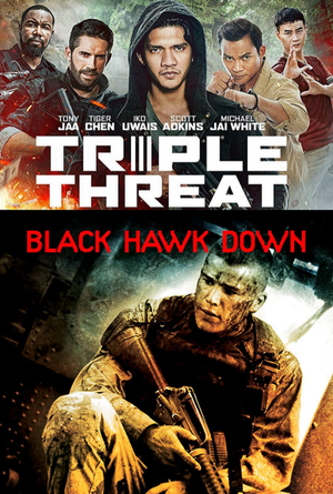 Triple Threat & Black Hawk Down VUDU HD Instawatch