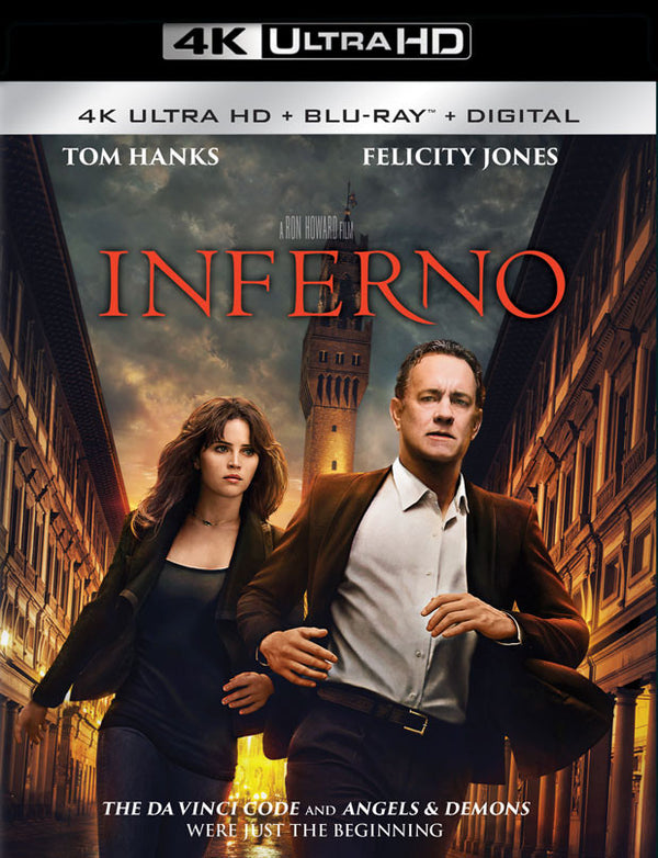 Inferno UV 4K OR ITUNES 4K VIA MOVIES ANYWHERE