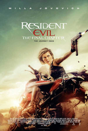 Resident Evil the Final Chapter UV HD or iTunes HD via Movies Anywhere