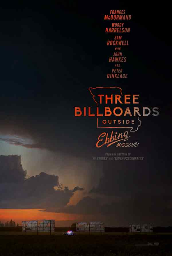 Three Billboards Outside of Ebbing Missouri UV HD or iTunes HD Via Movies Anywhere