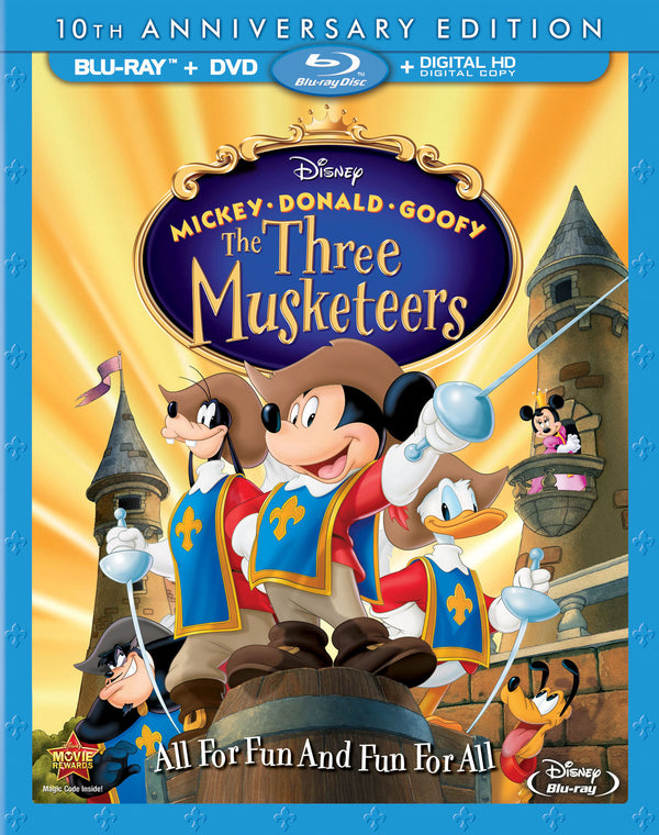 Three Musketeers Blu-ray DVD Combo No Digital Copy