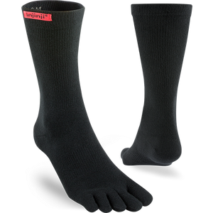 Injinji Sport Toesocks Unisex Original Weight Crew - Black