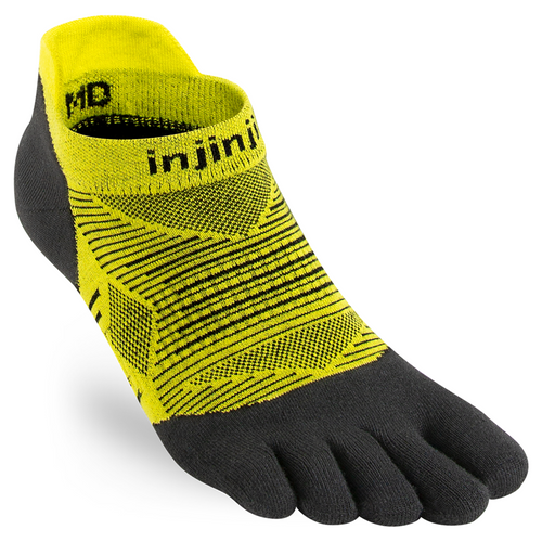 Injinji Unisex RUN Toesocks Lightweight No-Show - Limeade