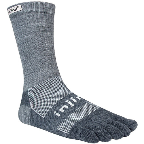 Injinji Outdoor Unisex Toesocks Crew - Charcoal
