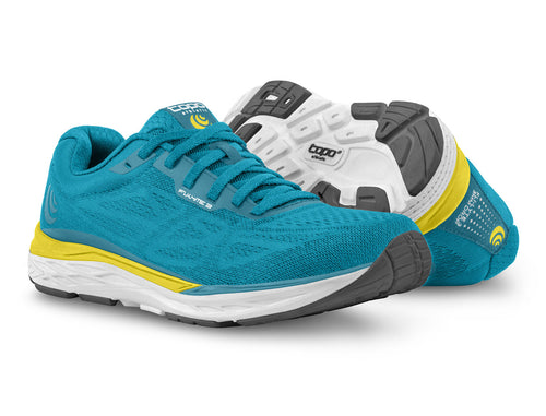 TOPO FLI-LYTE 3 - Womens - AQUA/YELLOW
