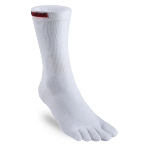 Injinji Sport Toesocks Unisex Original Weight Crew - White