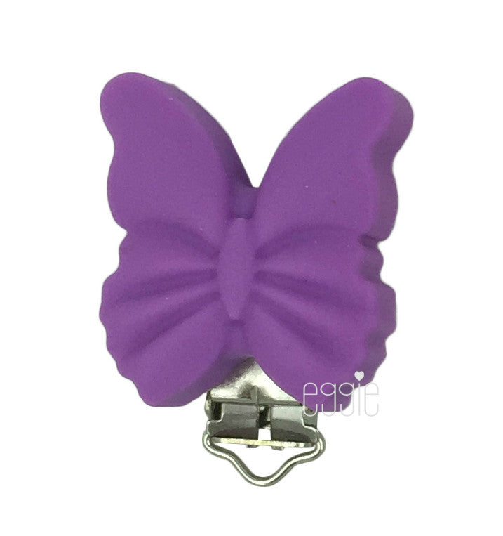 Upgrade - Silicone Butterfly Clip - Choose Your Color - eggie baby