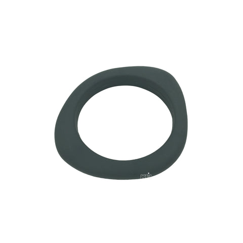 Silicone Smooth Teething Bangle - Dark Gray - eggie baby