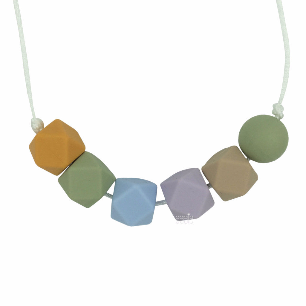 "Teething Necklace Geo Mix - ""Daisy"" - eggie baby"