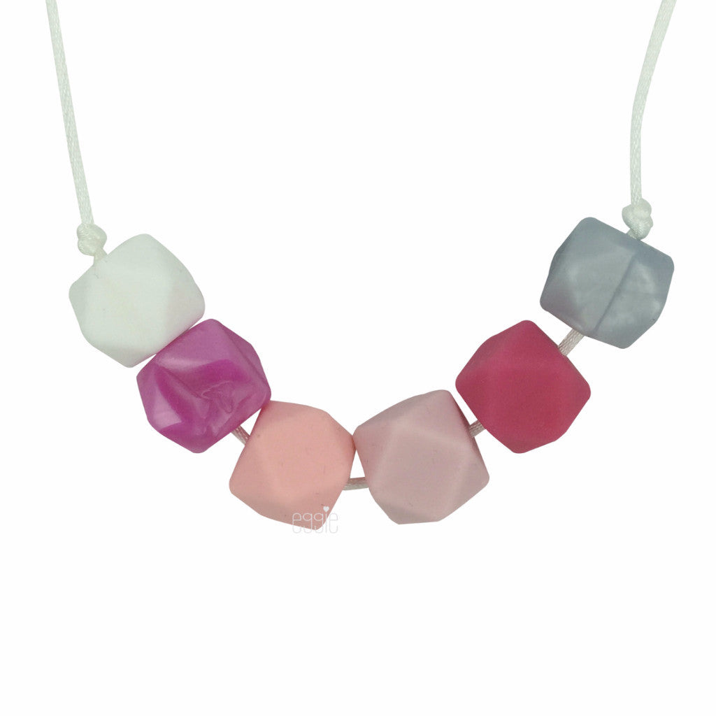 "Teething Necklace Geo - ""Cotton Candy"" - eggie baby"