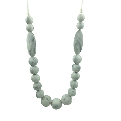 Teething Necklace Marble - Classic Marquise - eggie baby