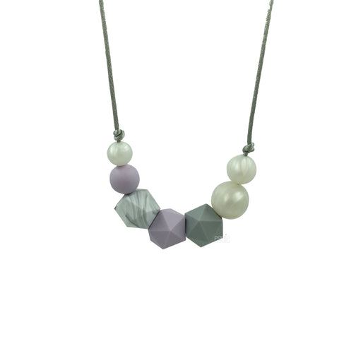"Teething Necklace Marble Geo Mix - ""Lilac Dream"" - eggie baby"