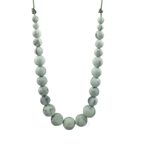 Teething Necklace Marble - Classic - eggie baby
