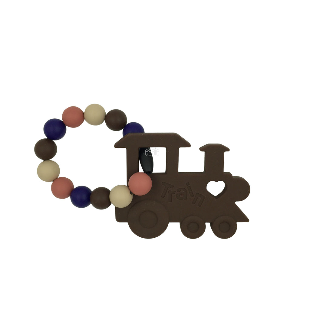Teething Toy Train - Chocolate - eggie baby