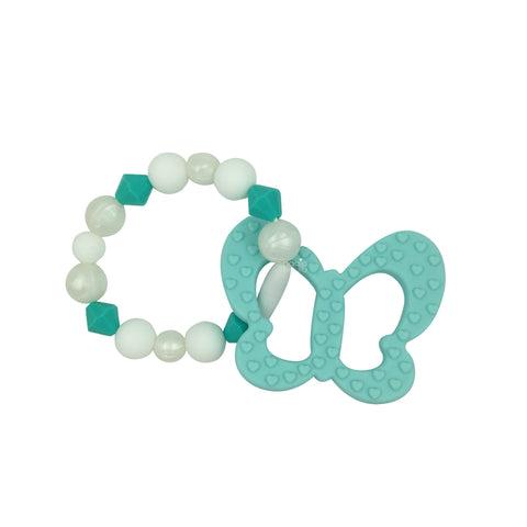 Teething Toy Butterfly - Mint - eggie baby