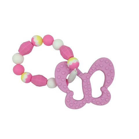 Teething Toy Butterfly - Pink - eggie baby