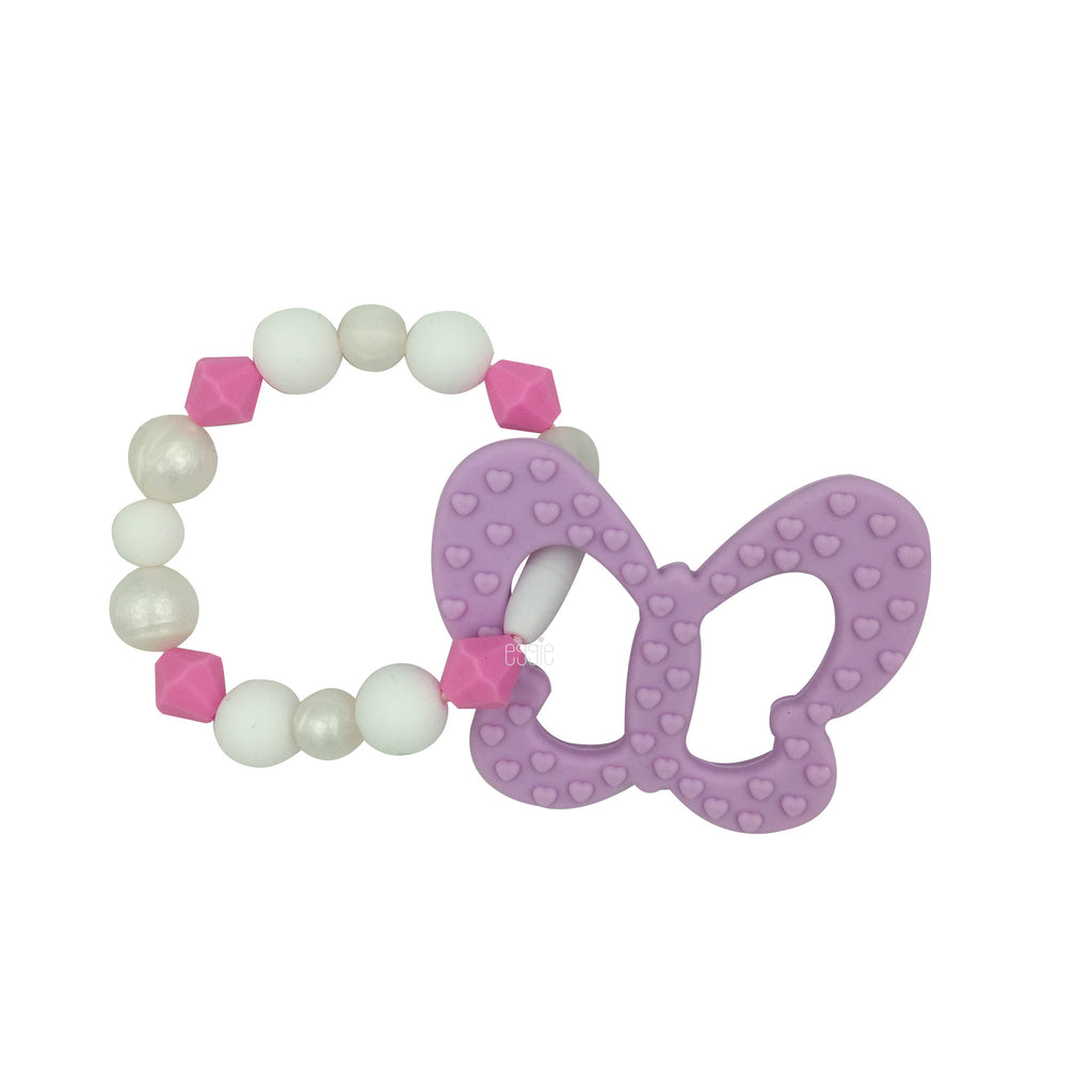 Teething Toy Butterfly - Lilac - eggie baby