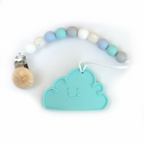 Silicone Cloud Teether with Clip - Choose Your Color - eggie baby