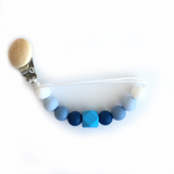 Silicone Pacifier Clip Fun Style - Choose Your Color - eggie baby