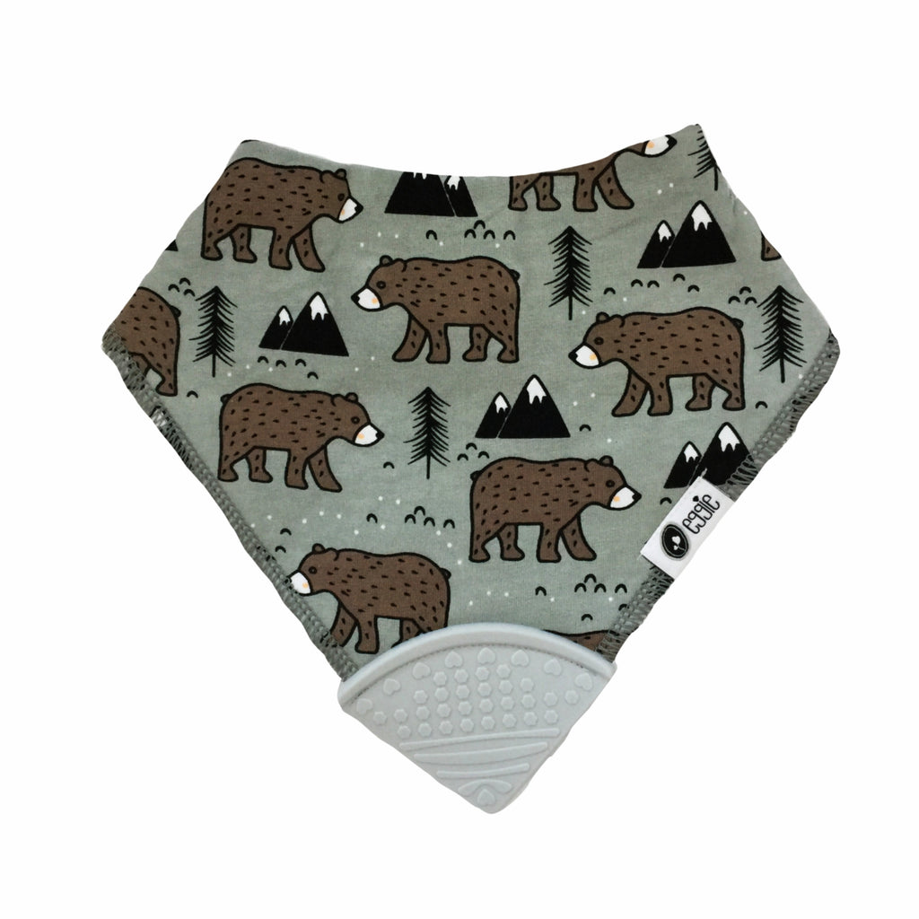 Bandana Bib - Bearly Cute - eggie baby