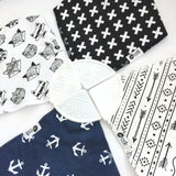 2 Pack Bandana Bib Set (with teether) - 20 designs - eggie baby