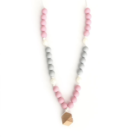 "Teething Necklace Wood Geo Mix - ""Zoe"" - eggie baby"