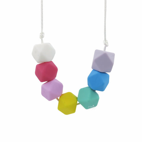 "Teething Necklace Geo - ""Rainbow"" - eggie baby"