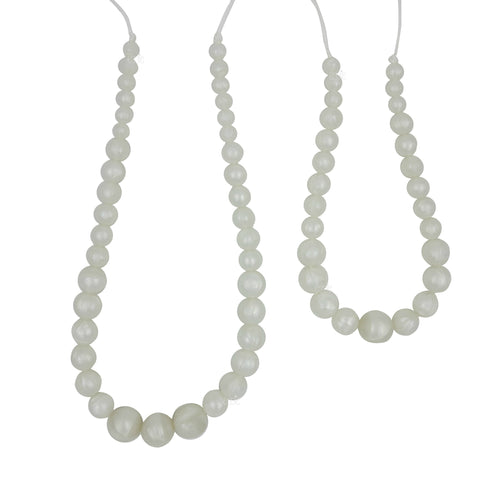 "Mommy & Me Teething Necklace Set - ""Jasmine & I"" - eggie baby"