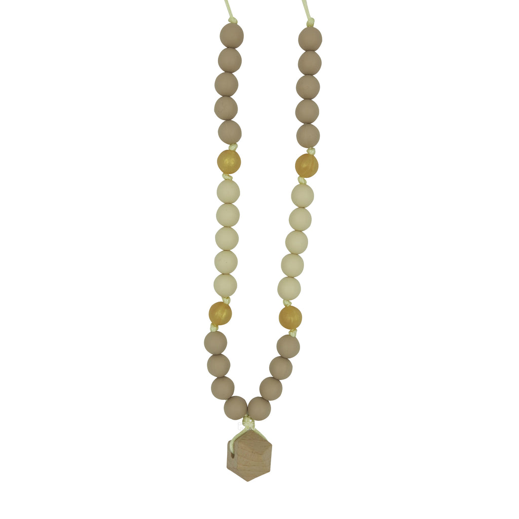 "Teething Necklace Wood Geo Mix - ""Julie"" - eggie baby"