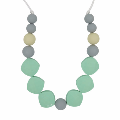 "Teething Necklace - ""Minty"" - eggie baby"