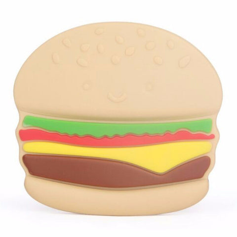 Silicone Burger Teether (with hole or no hole) - eggie baby