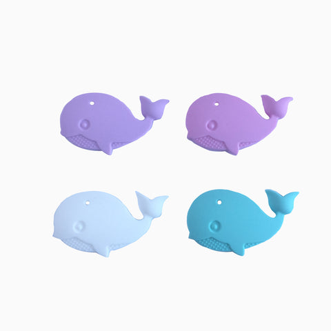 Silicone Whale Teether - Choose Your Color