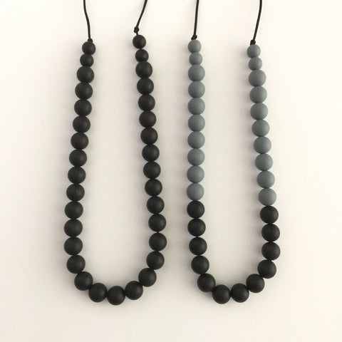 Teething Necklace - Classic Monochrome - eggie baby