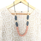 Teething Necklace Salix Leaf Collection - Choose Your Color - eggie baby