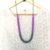 Teething Necklace - Classic Gray