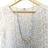 Teething Necklace Marble Classic - Choose Your Color - eggie baby