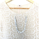 Teething Necklace Marble - Classic Marquise