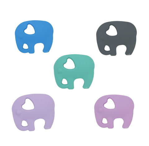 Silicone Elephant Teether - Choose Your Color - eggie baby