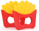 Silicone Burger & Fries Teether Combo - eggie baby