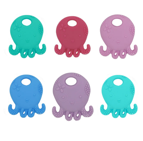 Silicone Octopus Teether - Choose Your Color - eggie baby