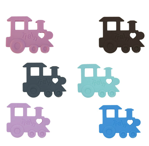 Silicone Train Teether - Choose Your Color - eggie baby