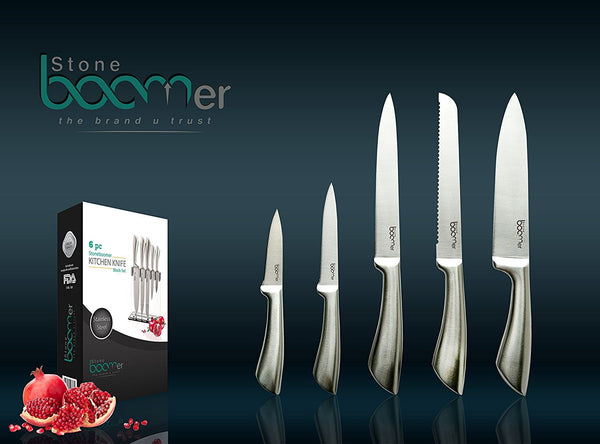 # 03 - 6 Piece Stainless Steel Professional Kitchen Knife Set
