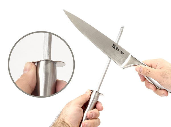 "# 21 - Stainless Steel Cutlery Professional Sharpener 8"" inches"
