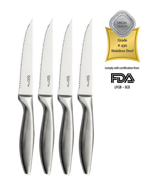 # 05 - 4 Piece Stainless Steel Steak Knife Set