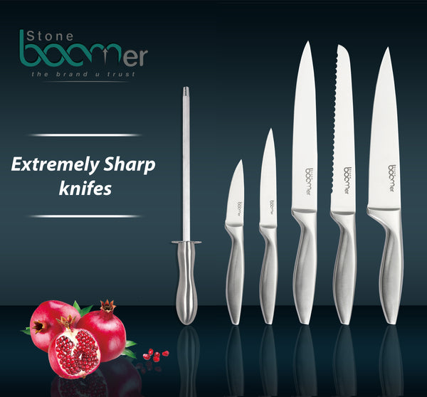 # 02 - Amazing Beautiful 13 Piece Stainless Steel Kitchen Knife And Utensil Set.