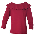 Frill Boatneck Top 2-4 yrs