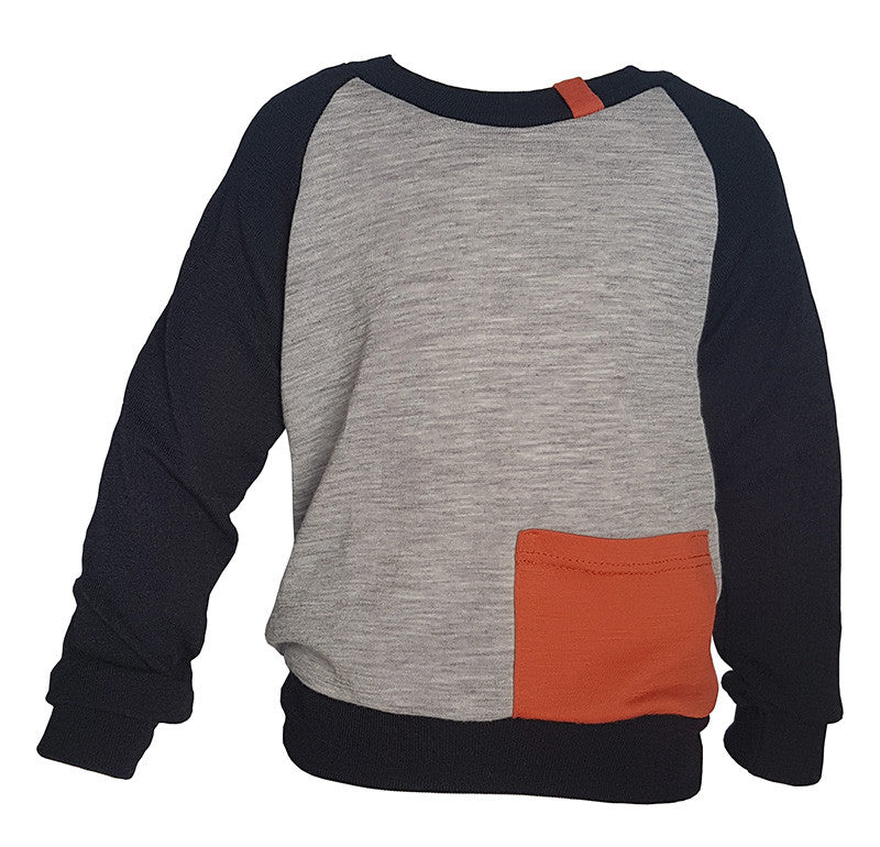 Orange Tab L/Sleeve T 5-8yrs